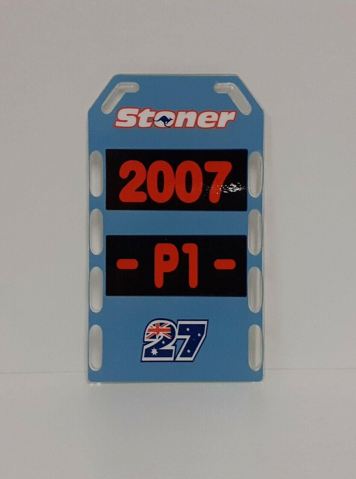 1/12 CASEY STONER MODELLO PITBOARDS MOTO BANNER STAND BOX DUCATI 2007 MODELLISMO