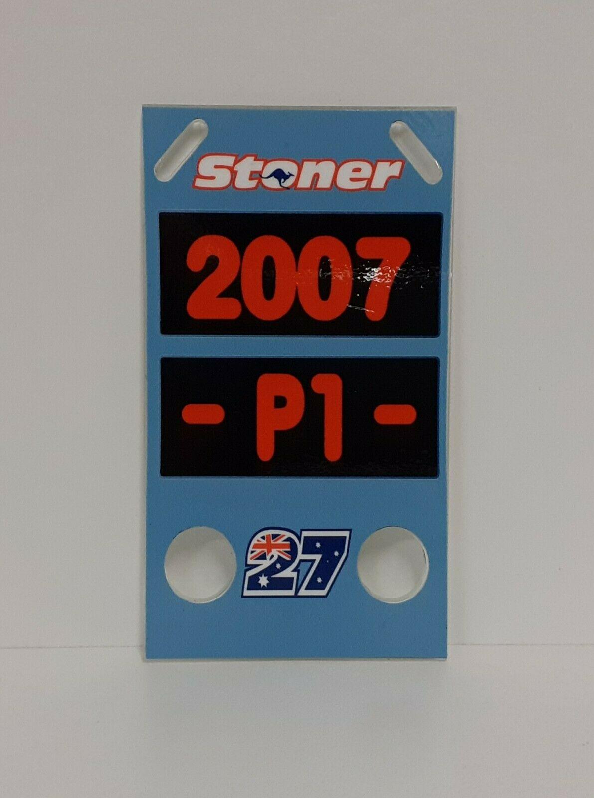 1/12 CASEY STONER PITBOARDS MOTO BANNER STAND BOX DUCATI 2007 MODELLISMO STATICO