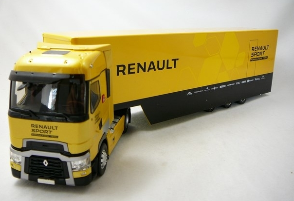 CAMION RENAULT T520 HIGH TRUCK CAR TRANSPORTER F1 TEAM 2016 ELIGOR 1/43