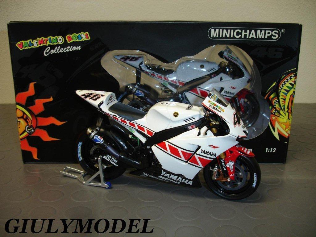 MINICHAMPS VALENTINO ROSSI 1/12 YAMAHA WORLD CHAMPION MOTOGP VALENCIA 2005 RARE