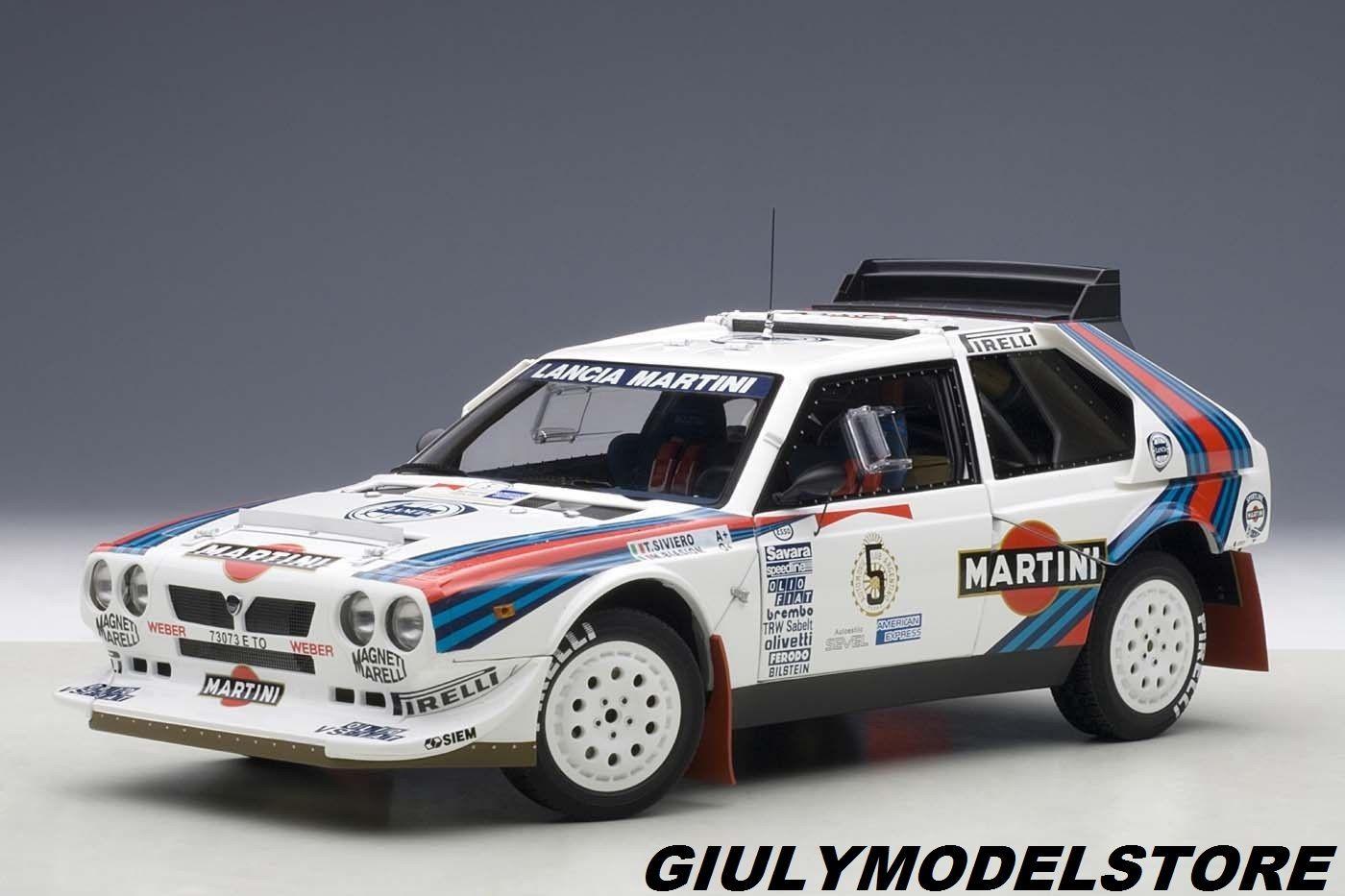 AUTOART 1:18 LANCIA DELTA S4 RALLY ARGENTINA 1986 BIASION / SIVIERO # 5 NEW