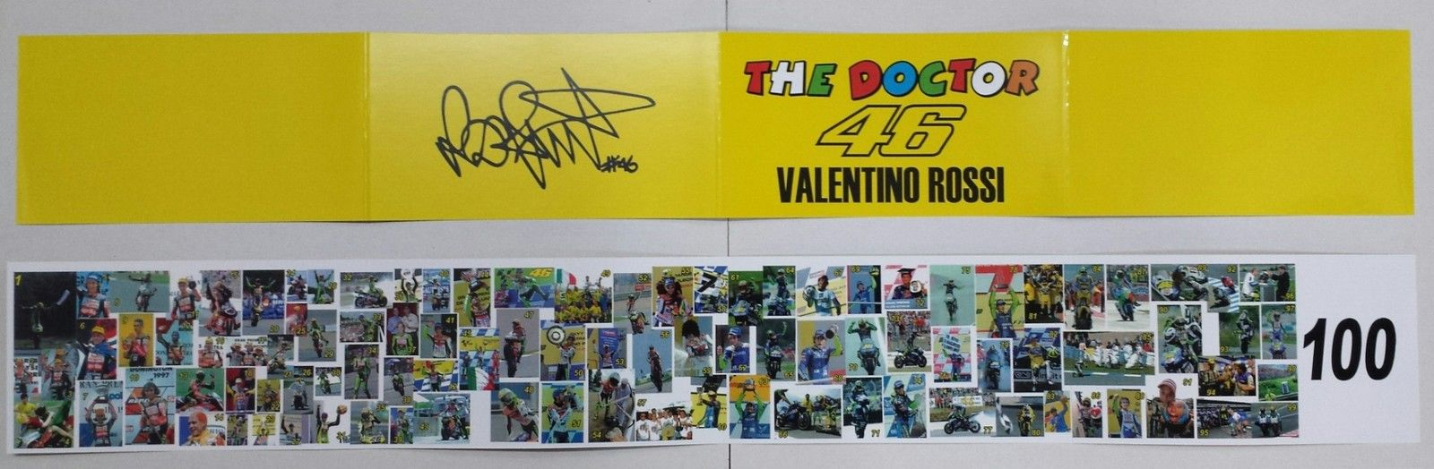 VALENTINO ROSSI 1/12 BANNER 100 VITTORIE IN MOTOGP LIMITED EDITION