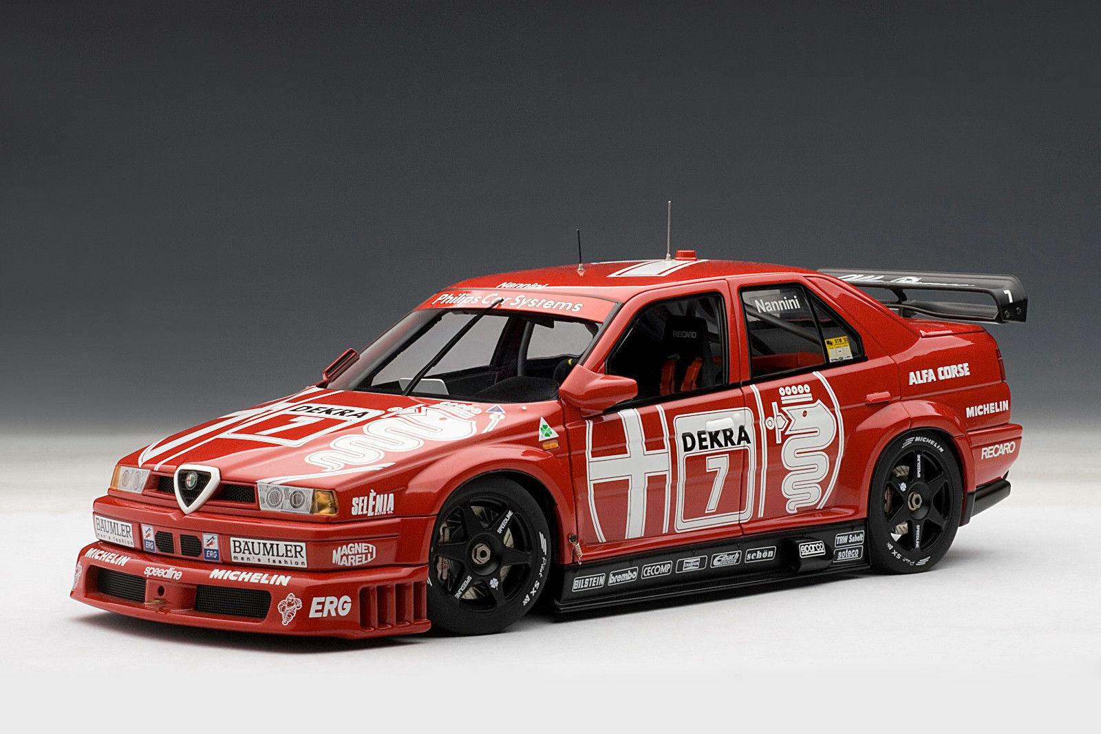 AUTOART 1:18 DTM - ALFA ROMEO 155 V6 TI WINNER HOCKENHEIM 1993 NANNINI # 7 NEW