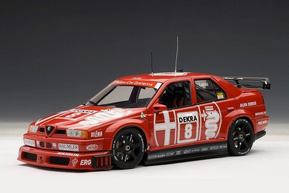 AUTOART 1:18 DTM - ALFA ROMEO 155 V6 TI WINNER ZOLDER 1993 LARINI # 8 NEW