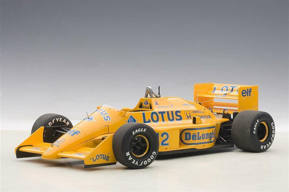 AUTOART 1:18 LOTUS 99T HONDA F1 JAPANESE GP 1987 A. SENNA #12 NEW