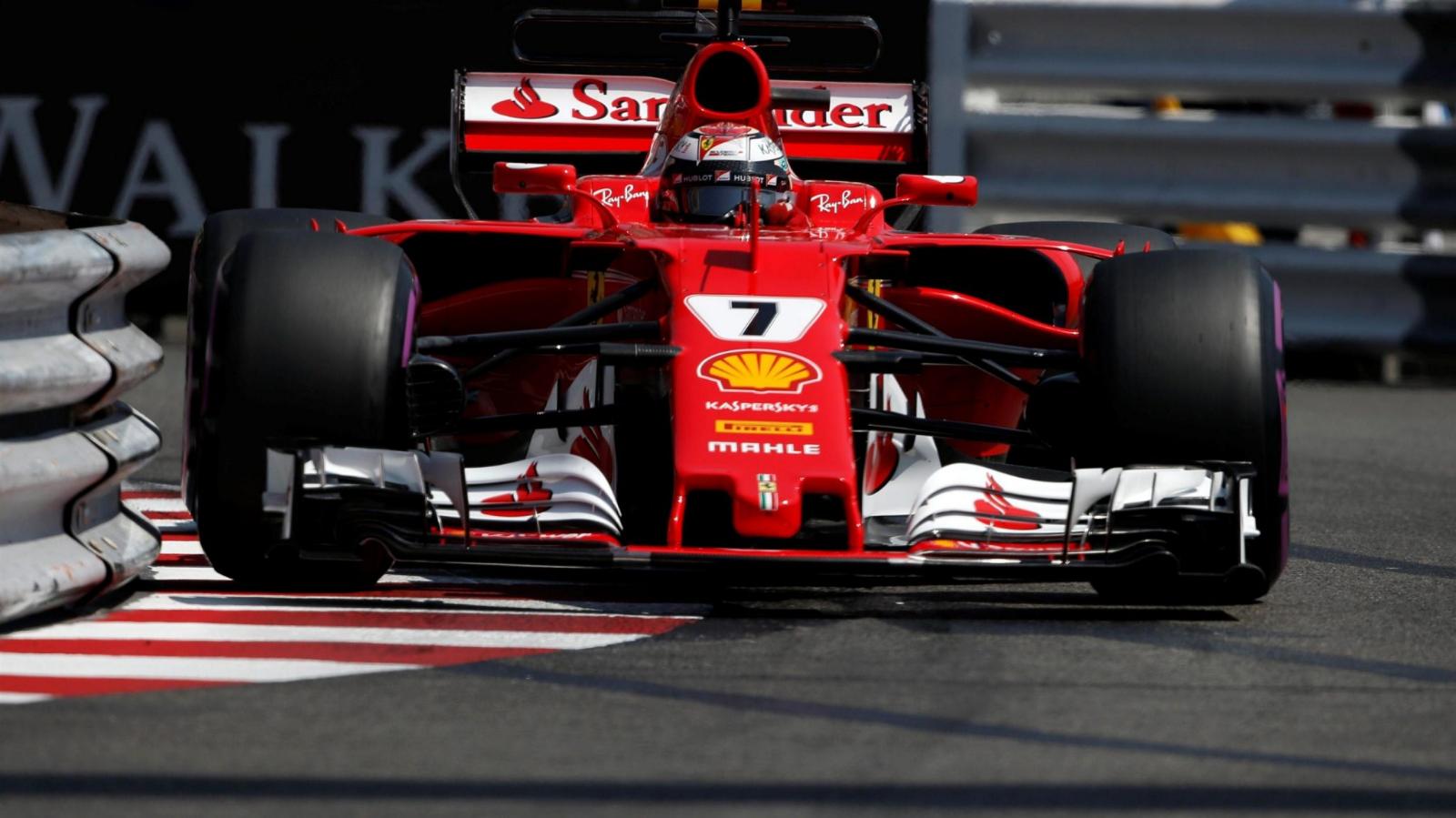 Raikkonen 2nd Gp Monaco 2017 1:18 Model BBR Ferrari Sf70-h Scuderia Ferrari K