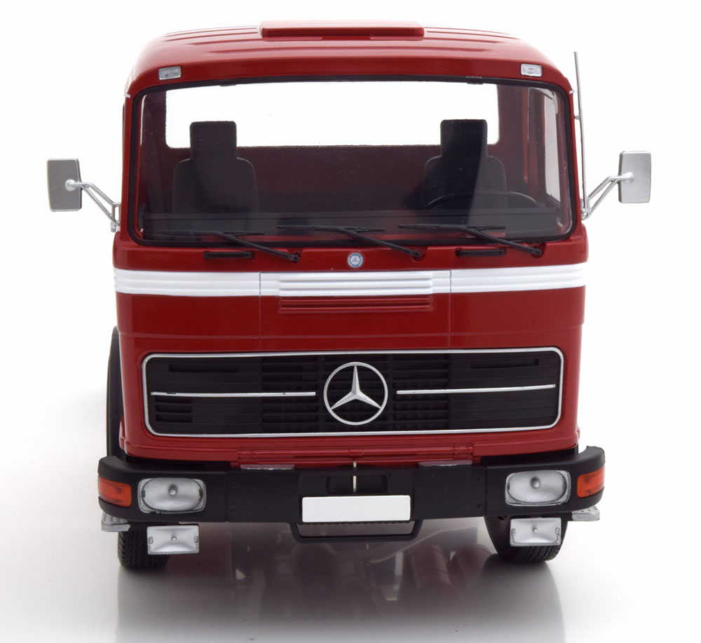 MODELLINO CAMION DIECAST SCALA 1/18 MERCEDES LPS 1632 RED BLACK WHITE 1969 ROAD KINGS NEW