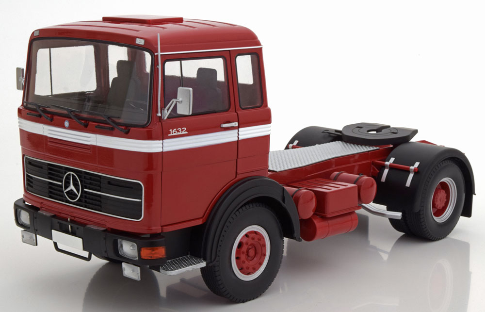 CAMION SCALA 1/18 MERCEDES LPS 1632 RED BLACK WHITE 1969 ROAD KINGS NEW