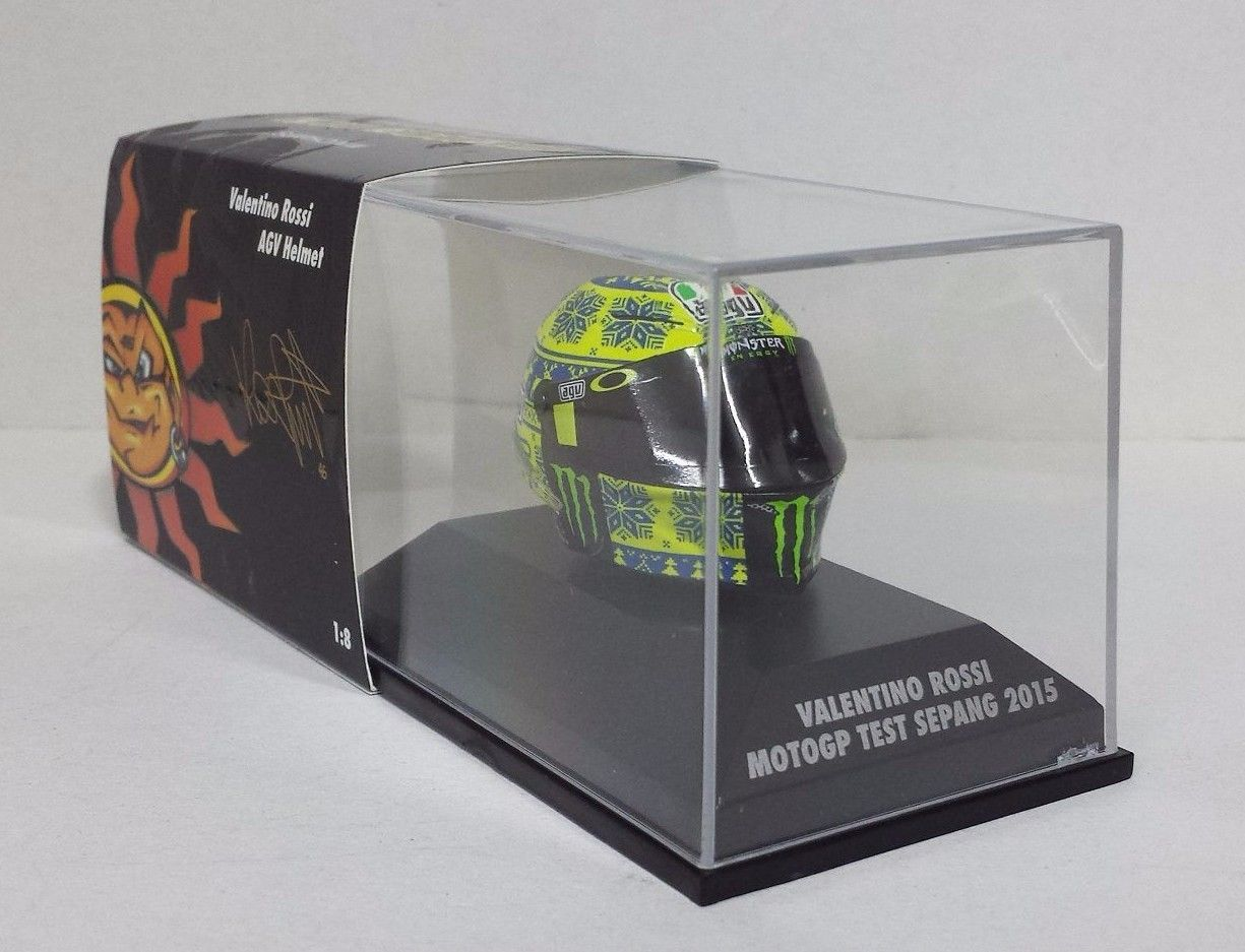 MINICHAMPS VALENTINO ROSSI AGV CASCO1/8 - MOTOGP TEST SEPANG 2015