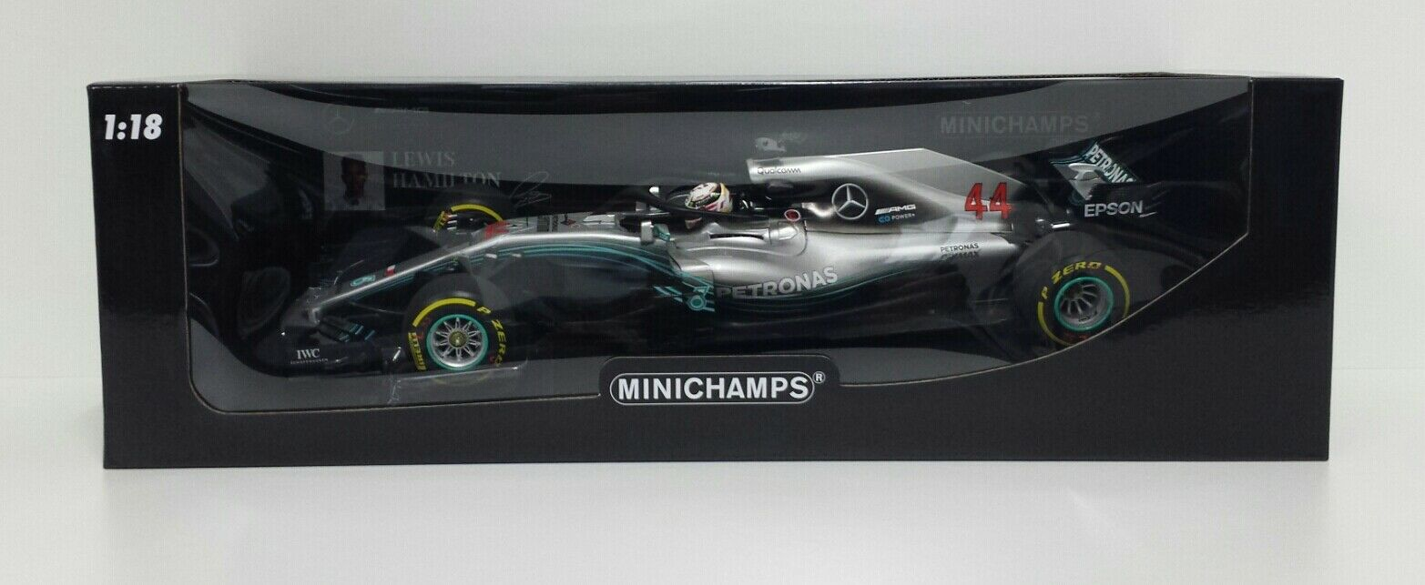 MINICHAMPS 1/18 CAR MERCEDES AMG F1 LEWIS HAMILTON WORLD CHAMPION 2018 DIECAST