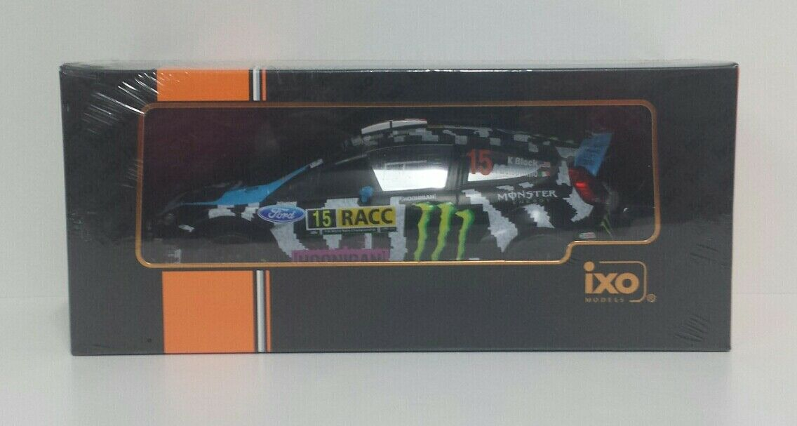 IXO 1/18 MODELLINO DIE CAST FORD FIESTA RS WRC KEN BLOCK RALLY CATALUNYA 2014
