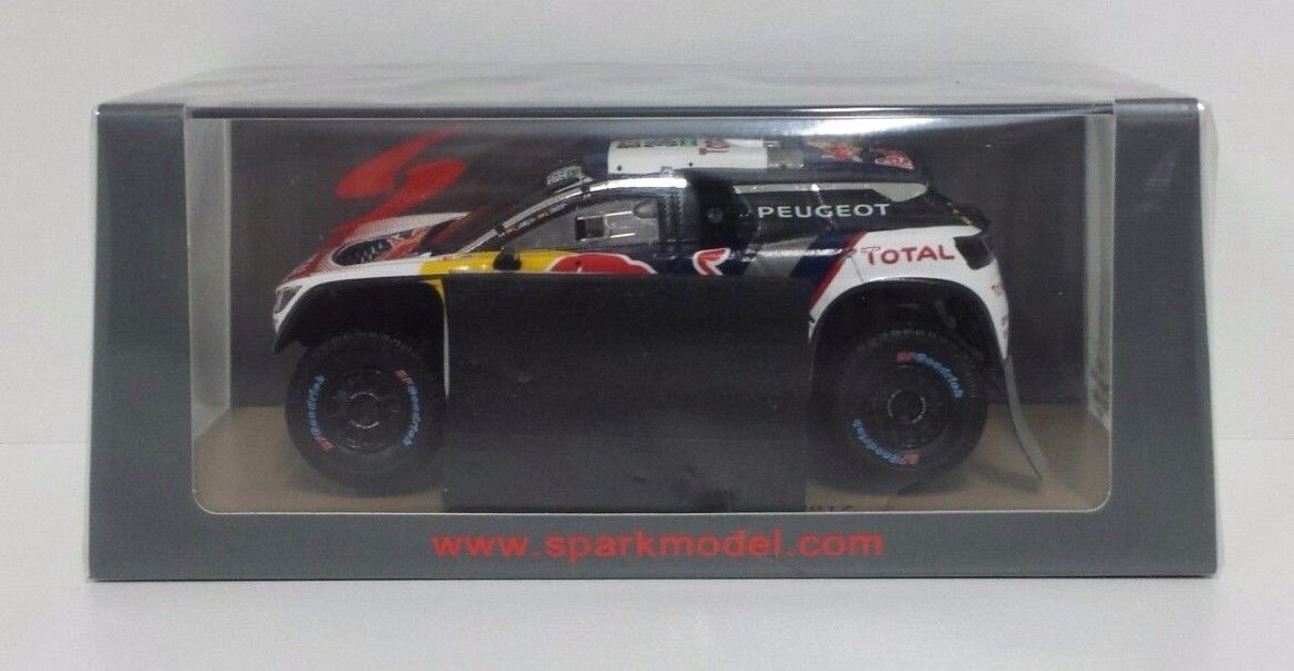 SPARK 1/43 MODELLO PEUGEOT 3008 DKR RED BULL C.SAINZ - L.CRUZ RALLY DAKAR 2017
