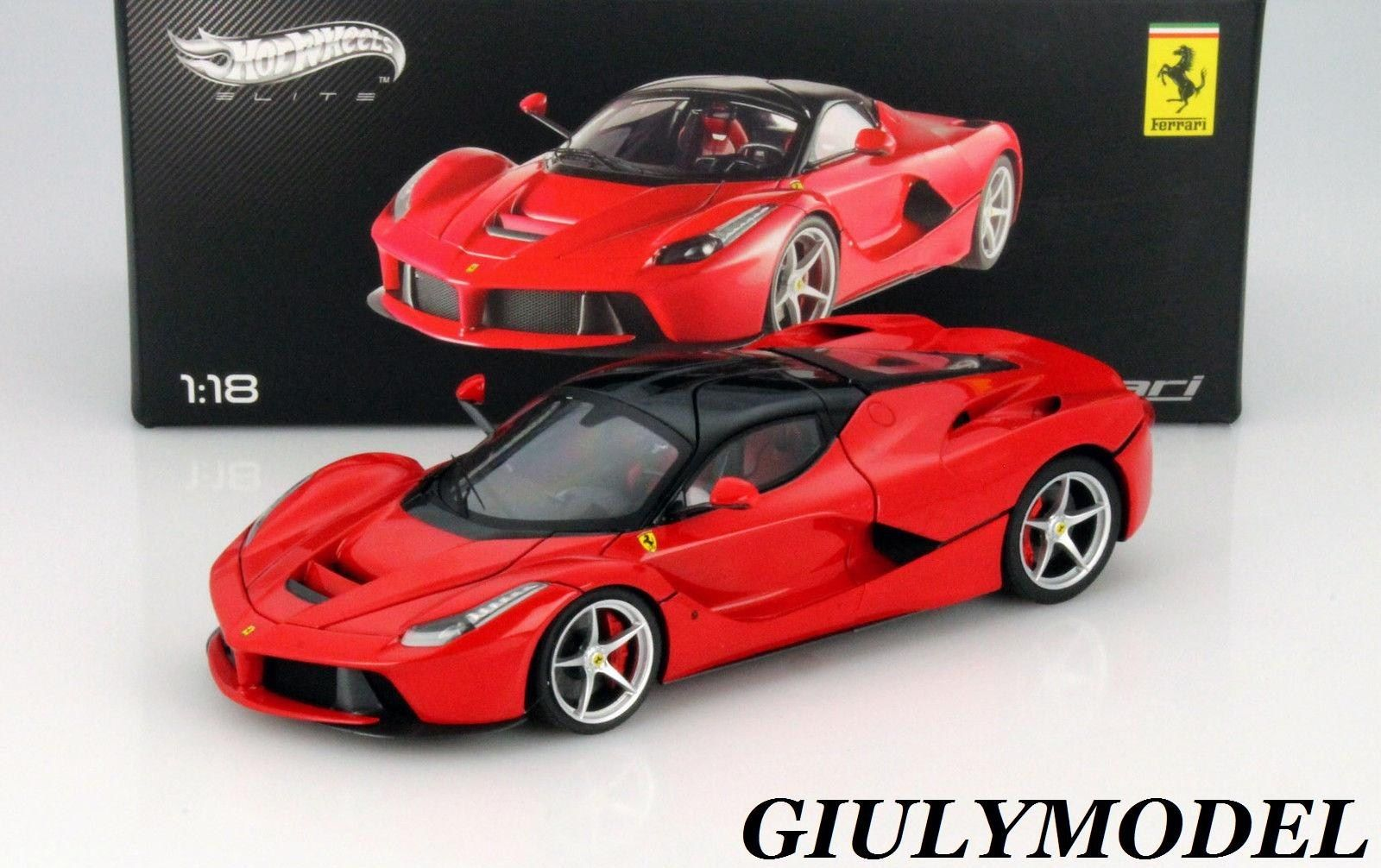 HOT WHEELS ELITE 1/18 FERRARI LA FERRARI 2013 - RED - L.EDITION - MATTEL BCT79