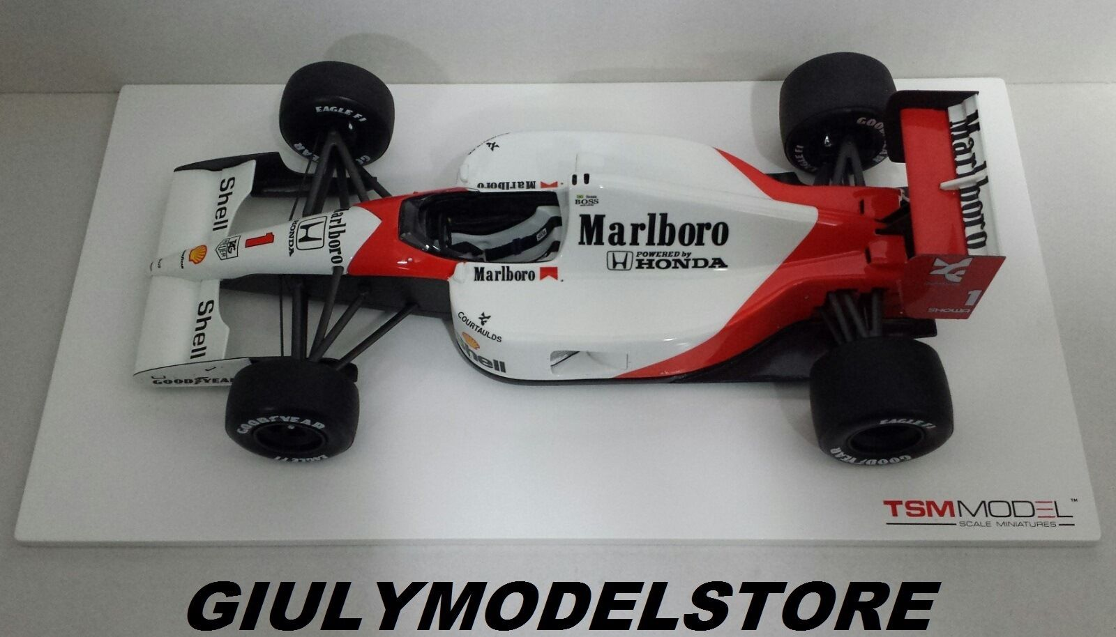 TRUESCALE 1:18 TSM - MCLAREN HONDA MP4/6 AYRTON SENNA 2ND JAPANESE GP 1991 RARE