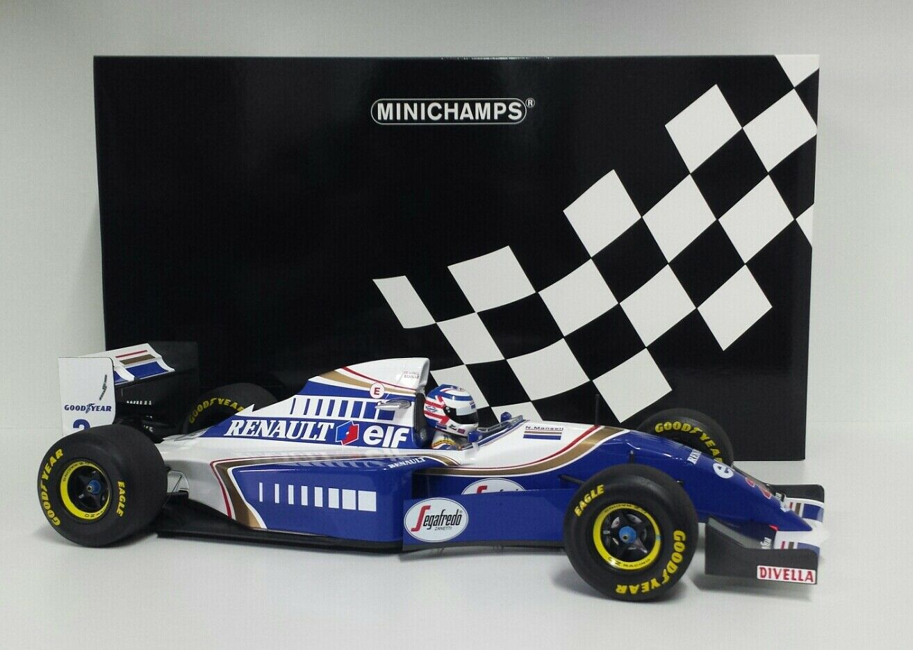 MINICHAMPS 1/12 MODELLINO AUTO F1 DIECAST WILLIAMS RENAULT FW16 MANSELL 1994 NEW