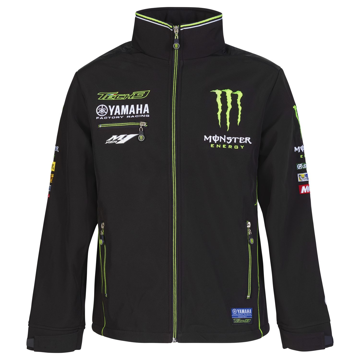 GIACCA SOFT SHELL YAMAHA M1 MONSTER ENERGY TECH 3 MOTOGP 2017 - 2018 TAGLIA XL NEW