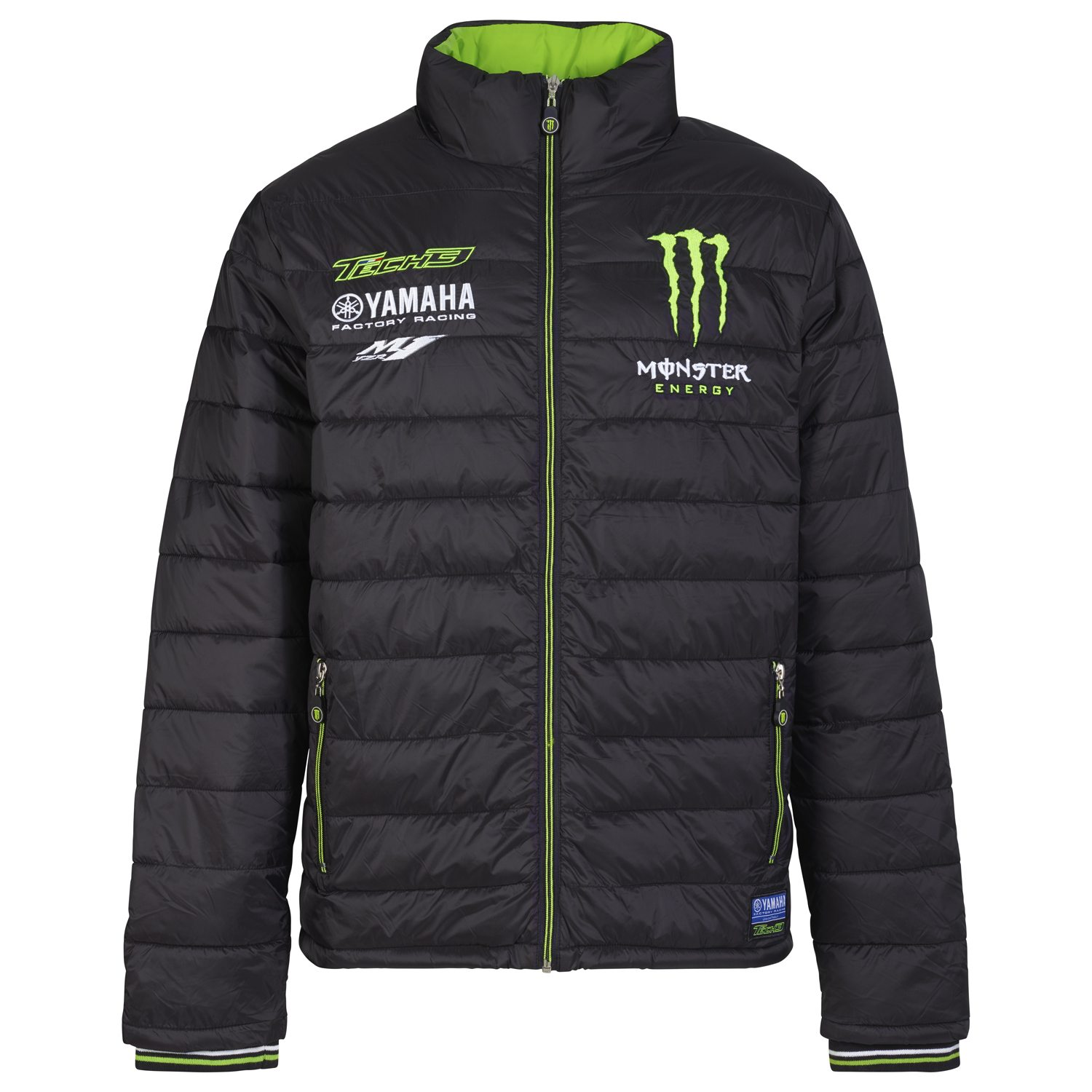 GIACCA PIUMINO YAMAHA M1 MONSTER ENERGY TECH 3 MOTOGP 2017 - 2018 TAGLIA XXL NEW
