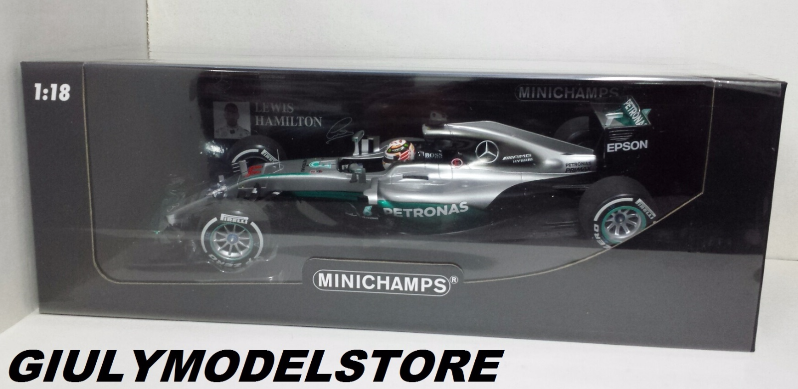 MINICHAMPS LEWIS HAMILTON 1/18 MERCEDES F1 W07 GP AUSTRALIA 2016 NEW