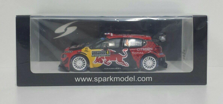 SPARK 1/43 MODELLINO DIE CAST AUTO CITROEN C3 WRC RALLY MONTE CARLO 2019 LAPPI