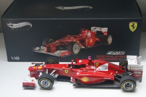 HOT WHEELS ELITE 1/18 FERRARI F2012 FERNANDO ALONSO