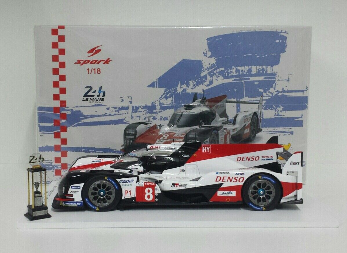 SPARK 1/18 MODELLINO AUTO TOYOTA TS050 HYBRID WINNER 24H LE MANS 2018 ALONSO NEW