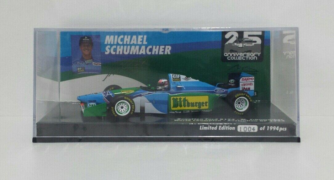 MINICHAMPS 1/43 MICHAEL SCHUMACHER MODELLO AUTO F1 BENETTON FORD AUSTRALIA 1994