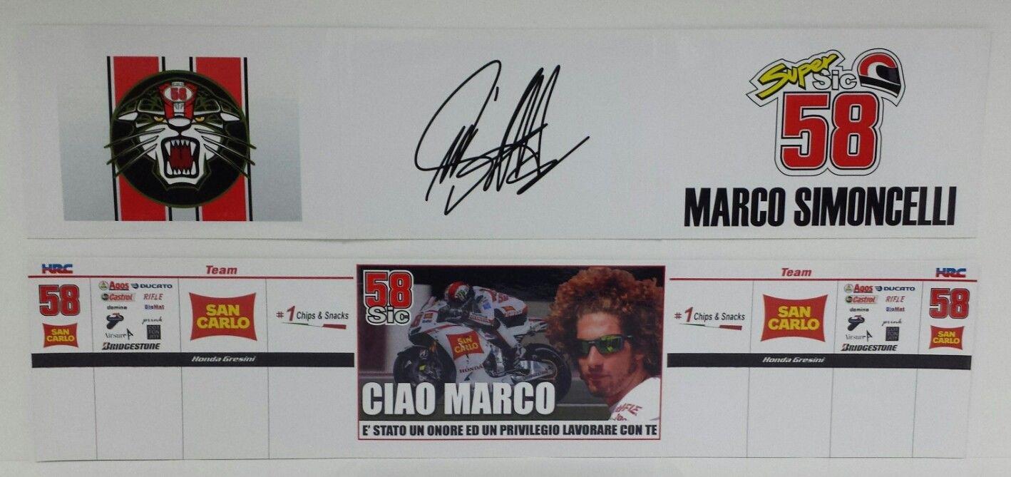 MARCO SIMONCELLI 1/12 - BANNER BOX VALENCIA 2011 - LIMITED EDITION