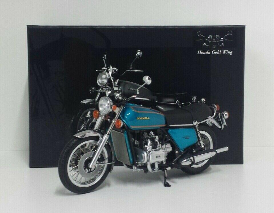 MINICHAMPS 1/12 MODELLINO MOTO HONDA GOLDWING GL 1000 K3 1975 BLU METALLIZZATO DIE CAST