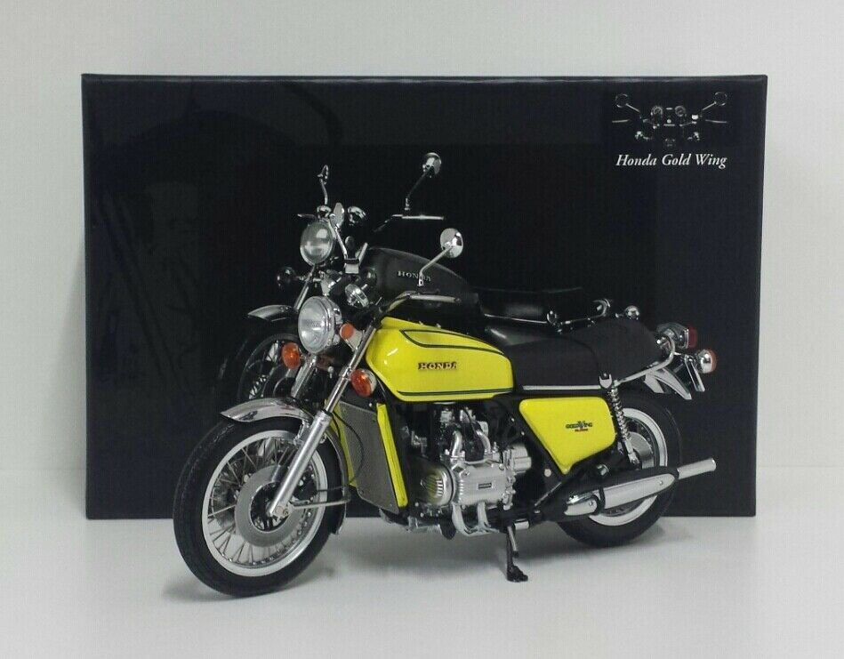 MINICHAMPS 1/12 MODELLINO MOTO HONDA GOLDWING GL 1000 K3 1975 GIALLO DIE CAST