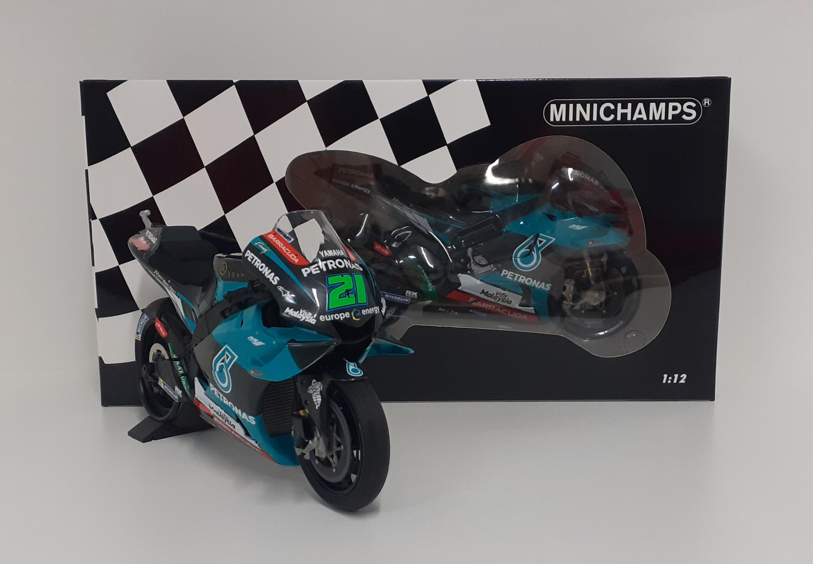 MINICHAMPS 1/12 MODELLINO MOTO YAMAHA M1 PETRONAS MORBIDELLI MOTOGP 2019 DIECAST