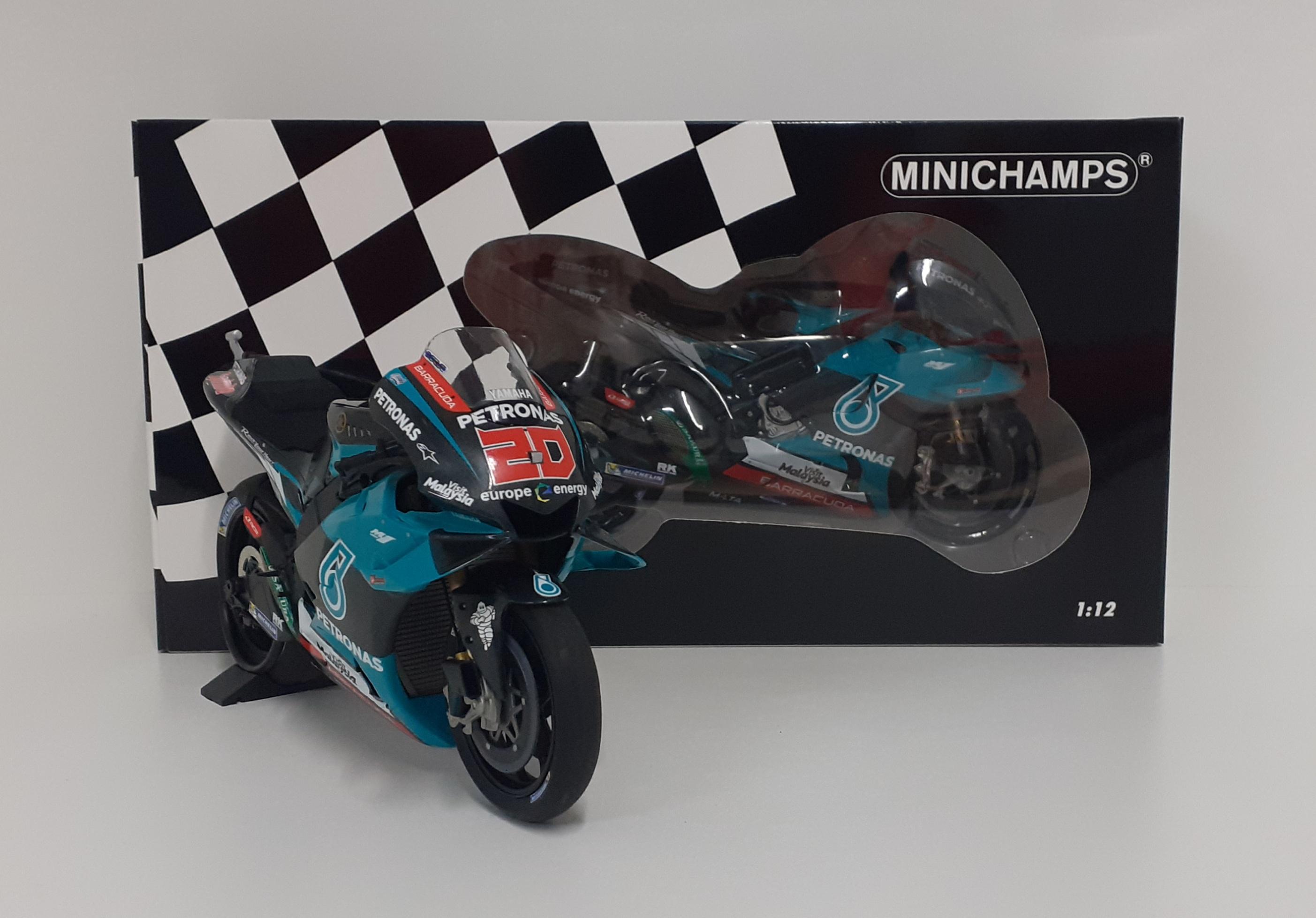 MINICHAMPS 1/12 MODELLINO MOTO YAMAHA M1 PETRONAS QUARTARARO MOTOGP 2019 DIECAST