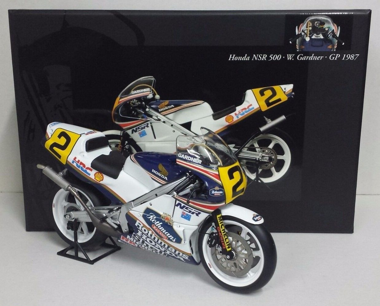 MINICHAMPS 1/12 W. GARDNER - HONDA NSR 500 WORLD CHAMPION 1987 MEGA RARE