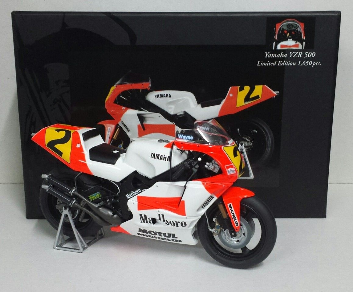 MINICHAMPS 1/12 WAYNE RAINEY - YAMAHA YZR 500 - WORLD CHAMPION 1990 MEGA RARE