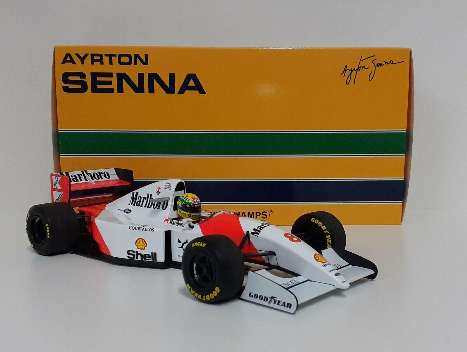 MINICHAMPS 1/18 AYRTON SENNA MODELLO DIECAST AUTO F1 MCLAREN FORD GIAPPONE 1993