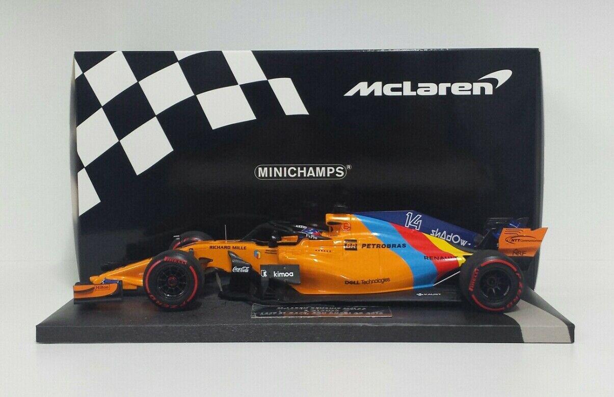 MINICHAMPS 1/18 MODELLINO AUTO F1 McLAREN HONDA ALONSO 2018 MODELLISMO STATICO