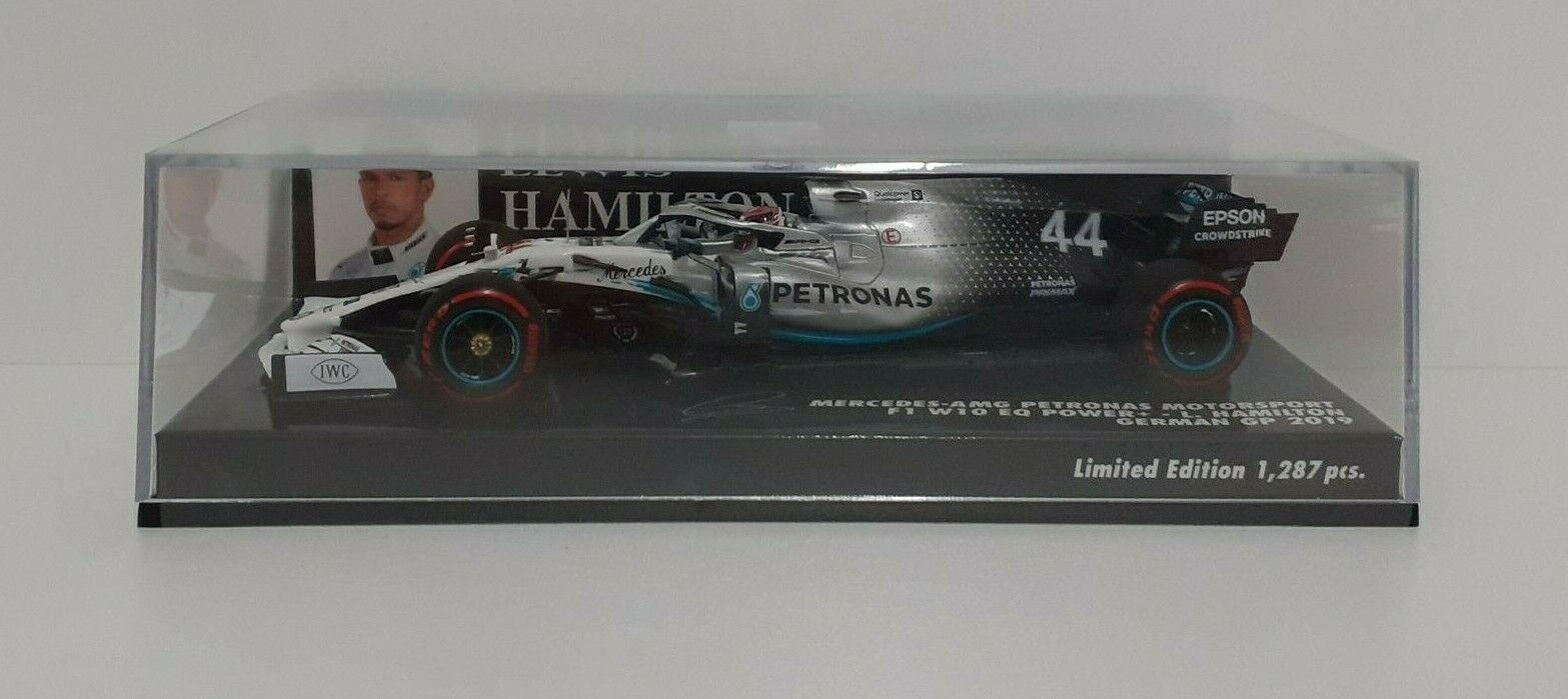 MINICHAMPS 1/43 MODELLINO AUTO F1 HAMILTON AMG MERCEDES GP GERMANIA 2019 DIECAST