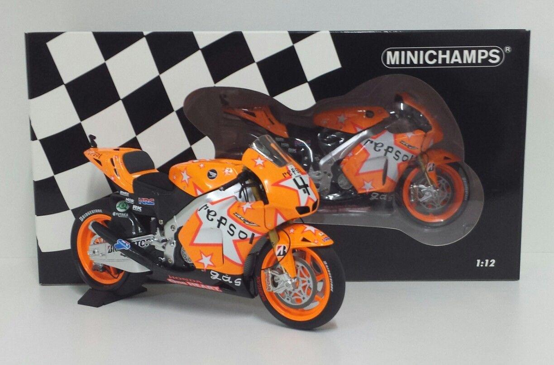 MINICHAMPS ANDREA DOVIZIOSO 1/12 #4 MODELLINO MOTOGP HONDA RC212V REPSOL TEAM GP ARAGON 2011 NEW