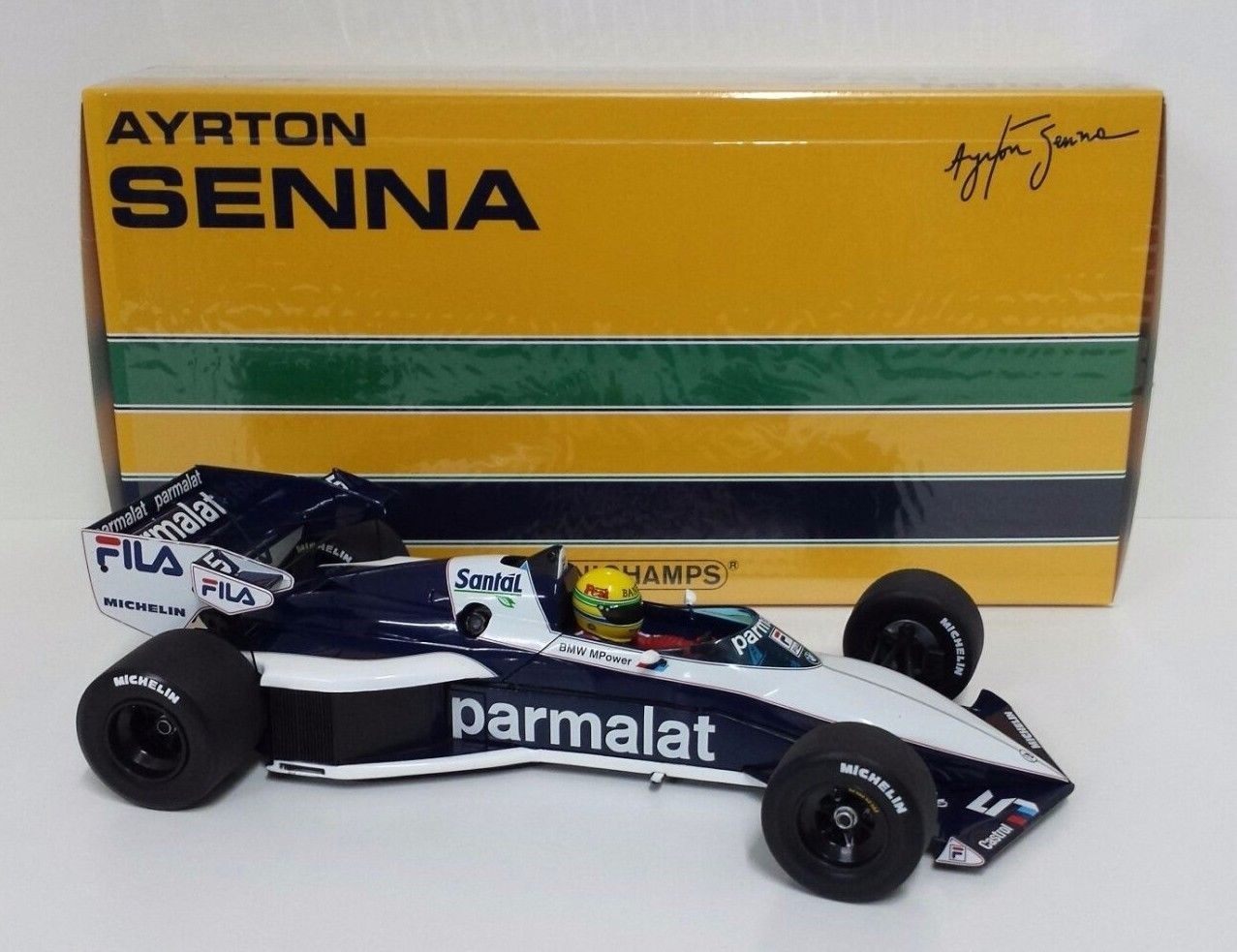 MINICHAMPS AYRTON SENNA 1/18 - F1 BRABHAM BMW BT52B TEST PAUL RICARD 1983 NEW