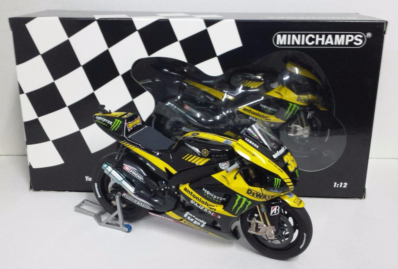 MINICHAMPS CAL CRUTCHLOW 1/12 YAMAHA YZR-M1 MONSTER TECH3 MOTOGP 2011 NEW