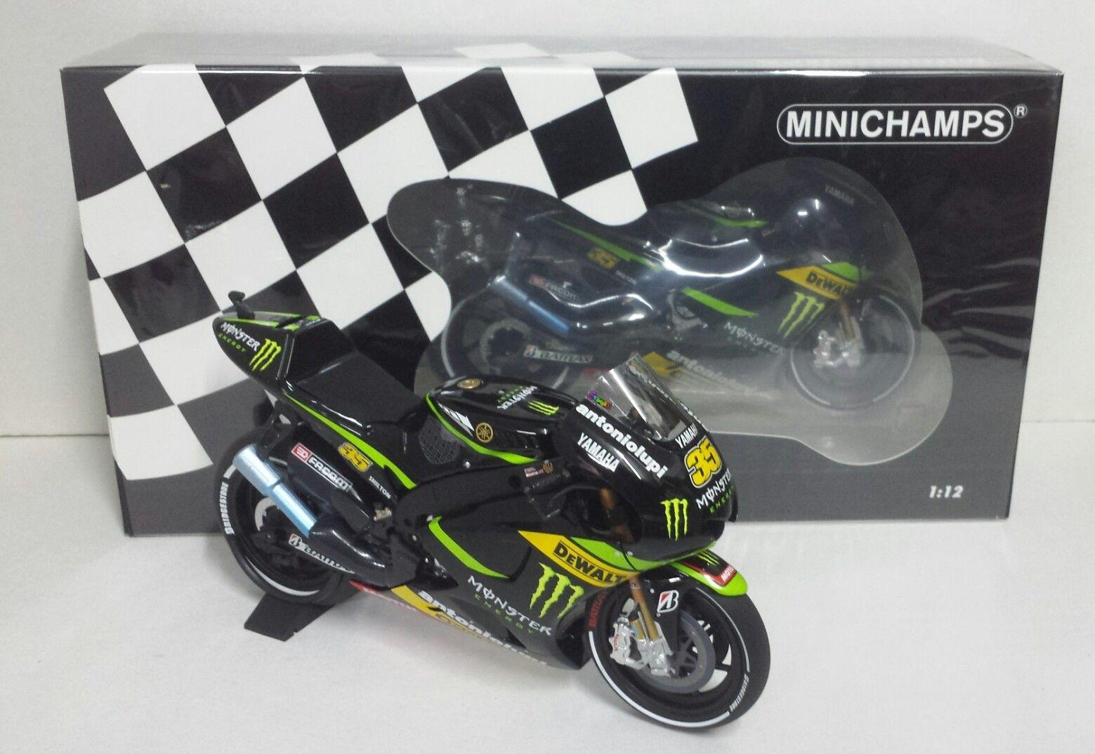 MINICHAMPS CAL CRUTCHLOW 1/12 YAMAHA YZR-M1 MONSTER TECH3 MOTOGP 2013 NEW