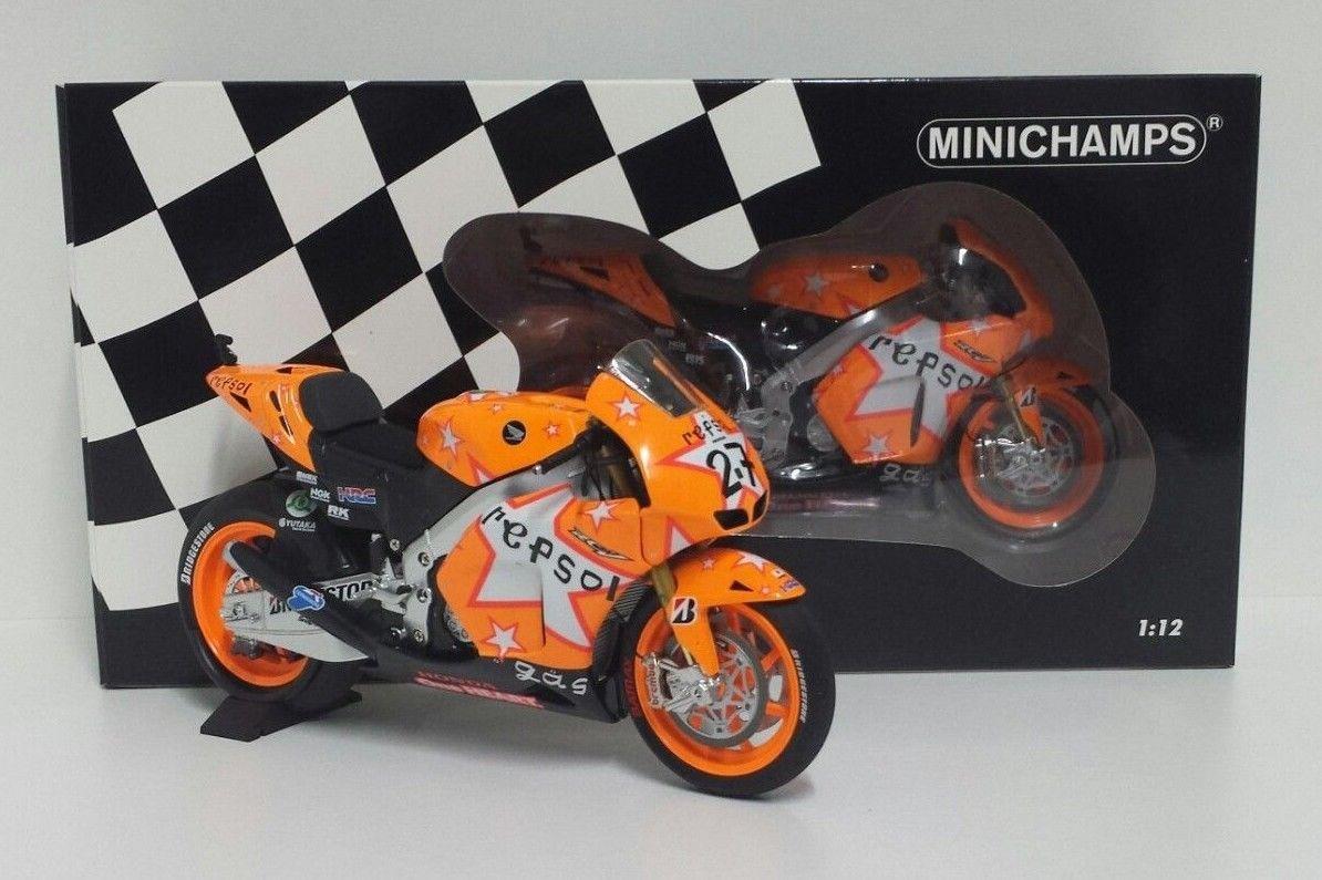 MINICHAMPS CASEY STONER 1/12 #27 MODELLINO MOTOGP HONDA RC212V REPSOL TEAM GP ARAGON 2011 NEW