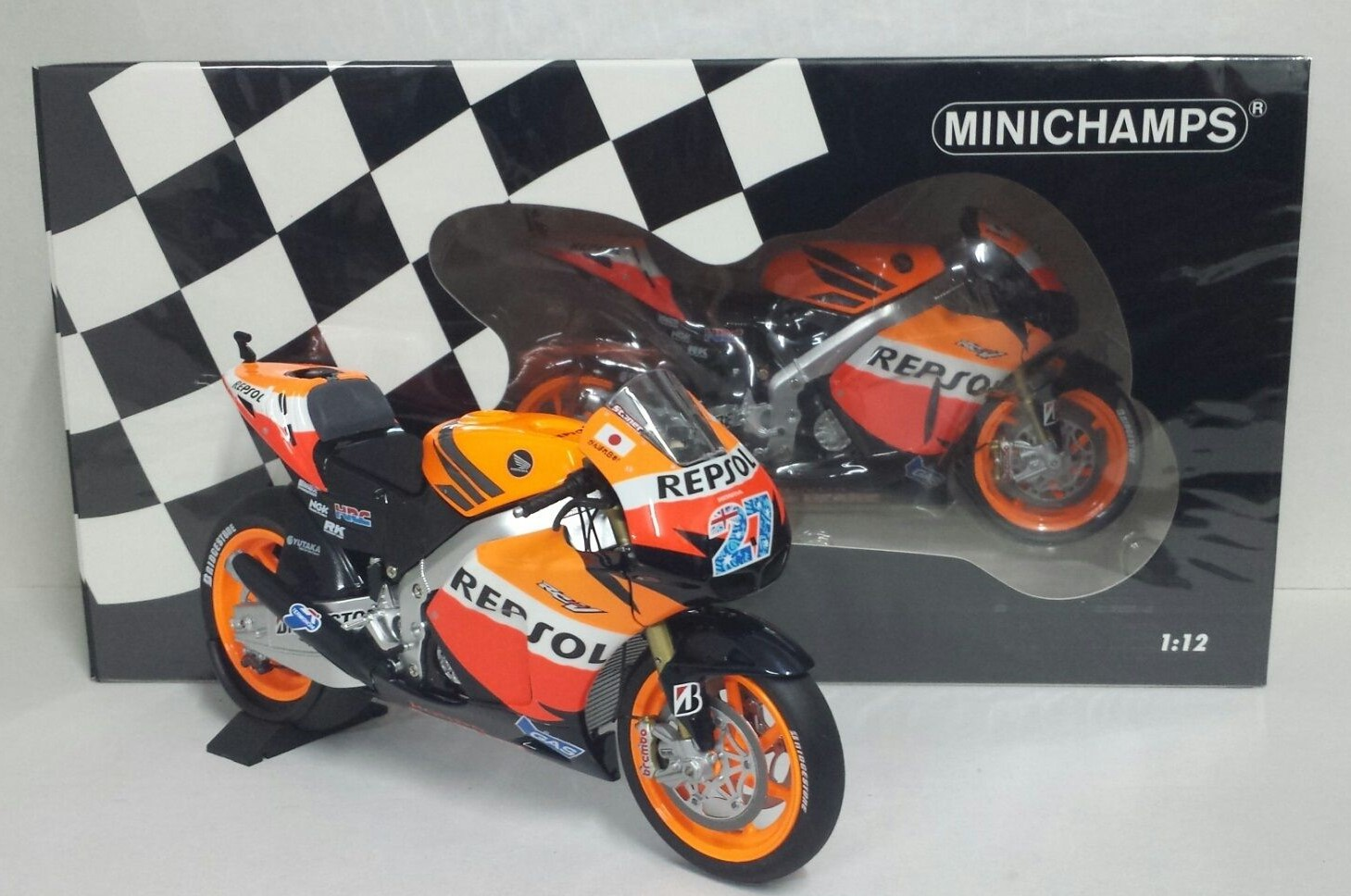 MINICHAMPS CASEY STONER 1/12 HONDA RC 212V MOTOGP 2011 LIMITED EDITION NEW