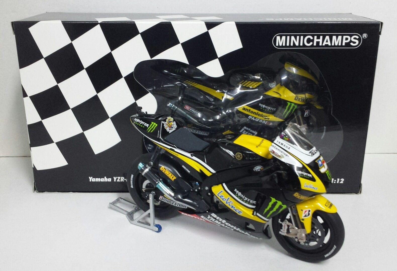 MINICHAMPS COLIN EDWARDS 1/12 YAMAHA YZR-M1 MONSTER TECH3 MOTOGP 2010 NEW