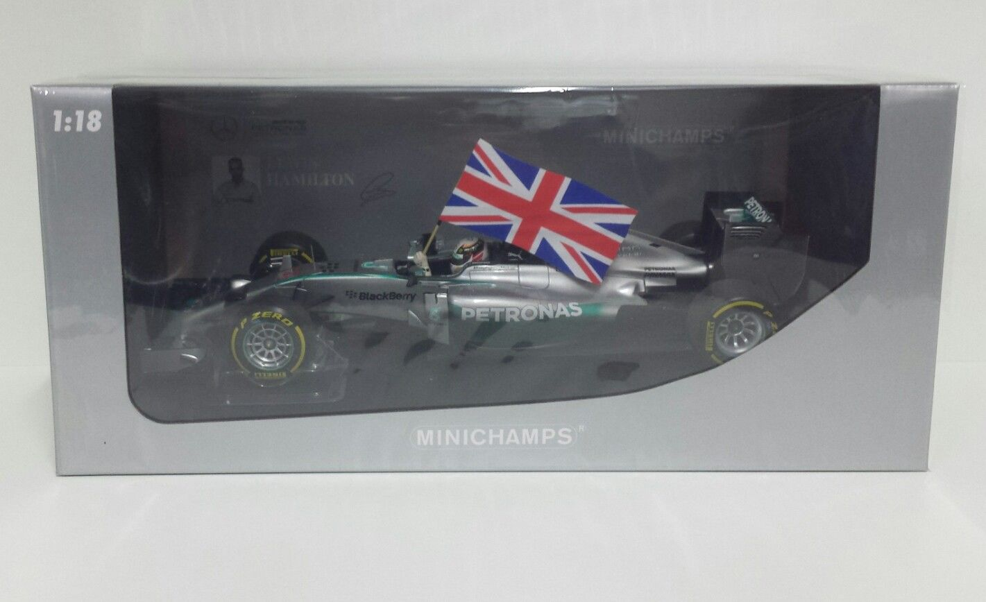 MINICHAMPS LEWIS HAMILTON 1/18 MERCEDES AMG PETRONAS F1 WINNER GP ABU DHABI 2014