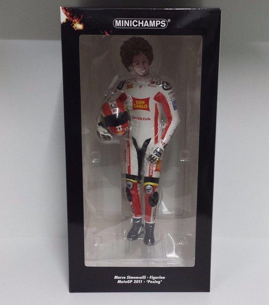 MINICHAMPS MARCO SIMONCELLI 1/6 FIGURA MOTOGP 2011 POSING L.E.999pcs.NEW