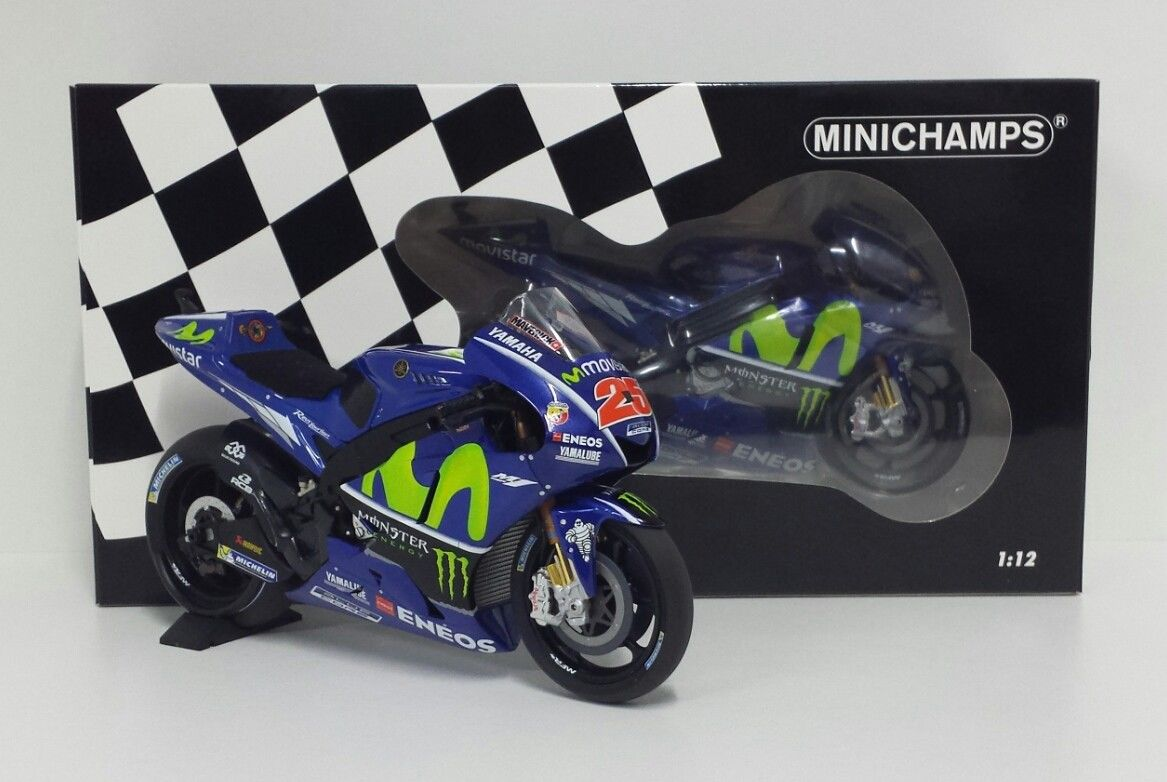 MINICHAMPS MAVERICK VINALES 1/12 #25 MODELLO YAMAHA M1 MOVISTAR 2017 MOTOGP NEW
