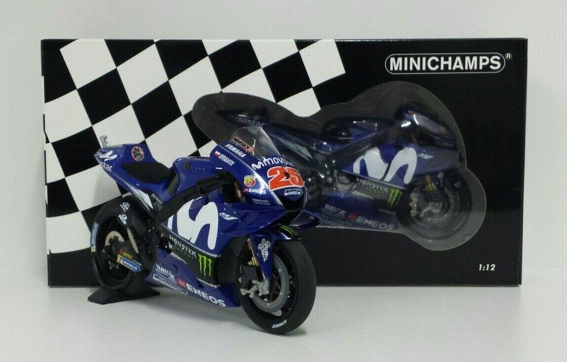 MINICHAMPS MAVERICK VINALES 1/12 #25 MODELLO YAMAHA M1 MOVISTAR 2018 MOTOGP NEW