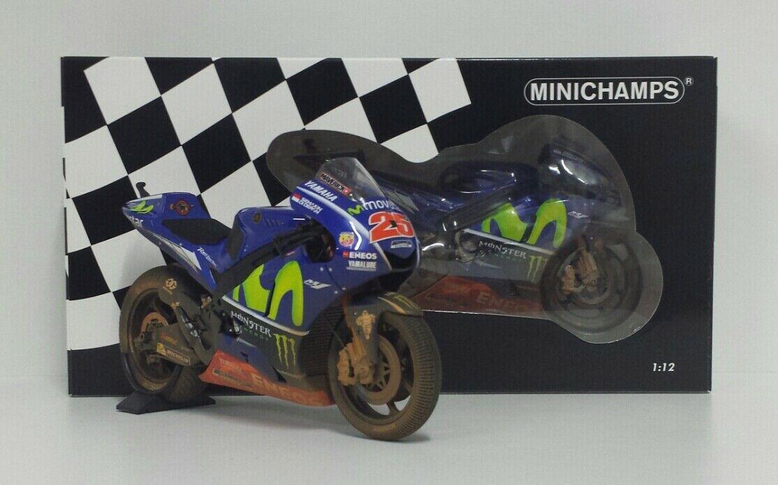 MINICHAMPS MAVERICK VINALES 1/12 MODELLINO MOTOGP DIECAST YAMAHA GP MALESIA 2017 NEW