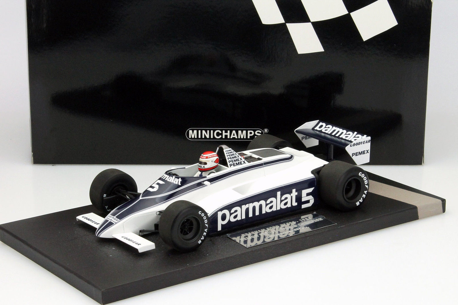auto minichamps nelson piquet 1 18 brabham ford bt49c. Black Bedroom Furniture Sets. Home Design Ideas
