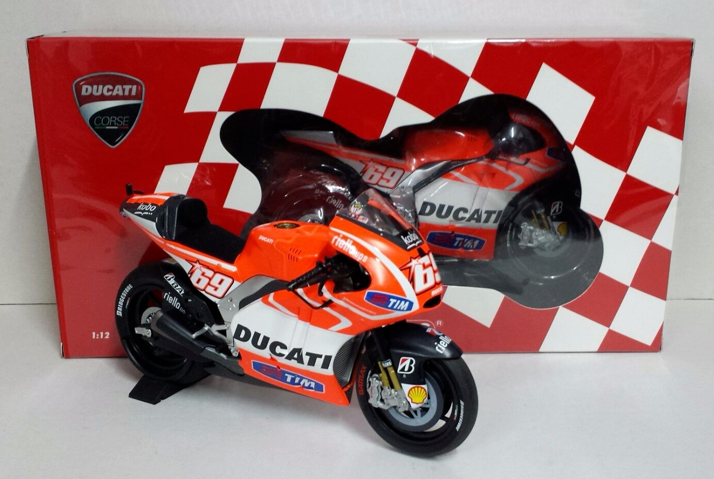 MINICHAMPS NICKY HAYDEN 1/12 DUCATI GP13 MOTOGP 2013 LIMITED EDITION NEW